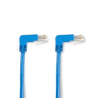 SpaceGAIN CAT5e 100-MHz Ethernet Patch Cable – Molded Angled Boots, F/UTP