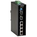 Industrial Ethernet PoE+ Switch - (4) 10/100/1000-Mbps, (2) GE SFP