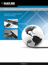 Black Box Whitepaper: Arten der USB-Emulation beim KVM Switching und der KVM Extension.
